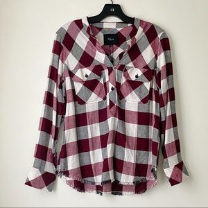 Rails clothing plaid shirt Redding White plum coal